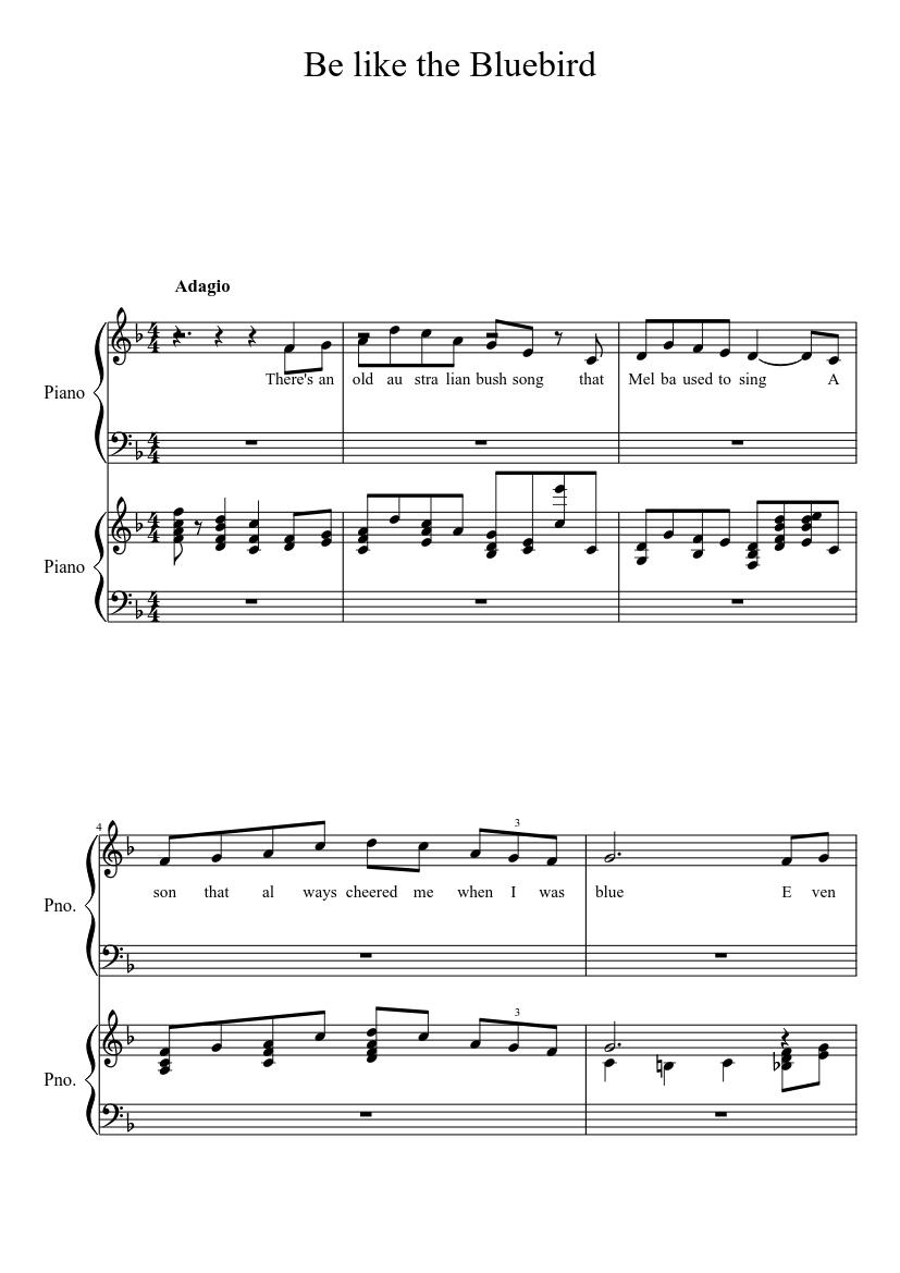 Bluebird Sheet Music   Alexis Ffrench   Piano Solo
