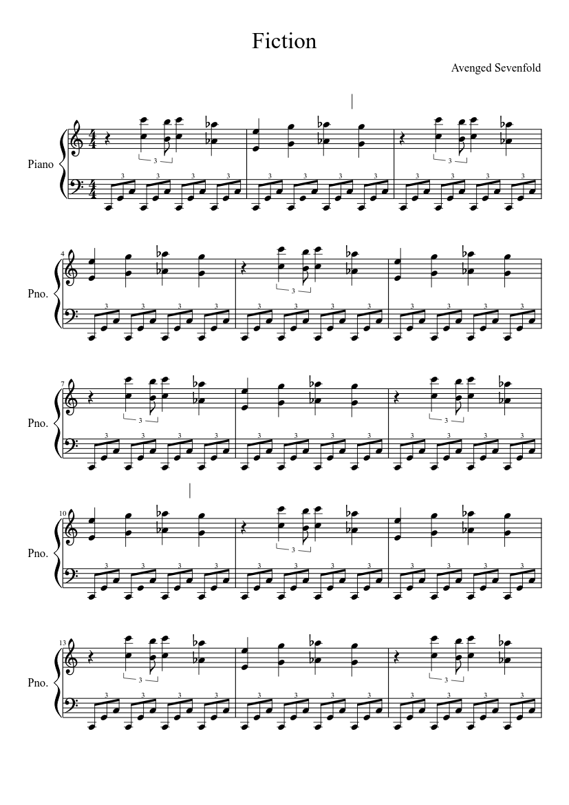 Fiction Sheet Music Download Free In Pdf Or Midi