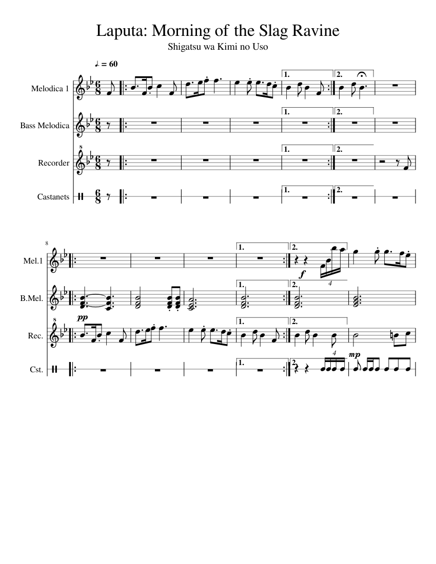 Laputa: Morning of the Slag Ravine sheet music  – 1 of 3 pages
