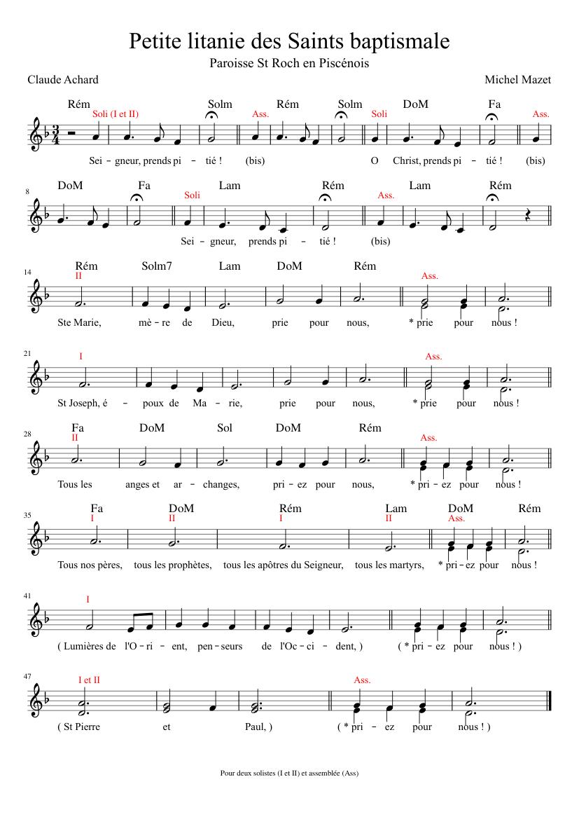 litanie des saints audio