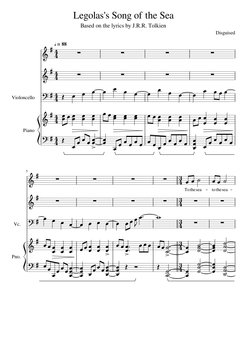 The mother's portrait (song of the sea) sheet music for flute.