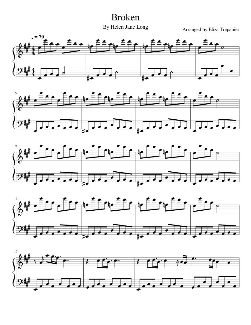 broken sheet music for piano (solo) | musescore.com  musescore.com