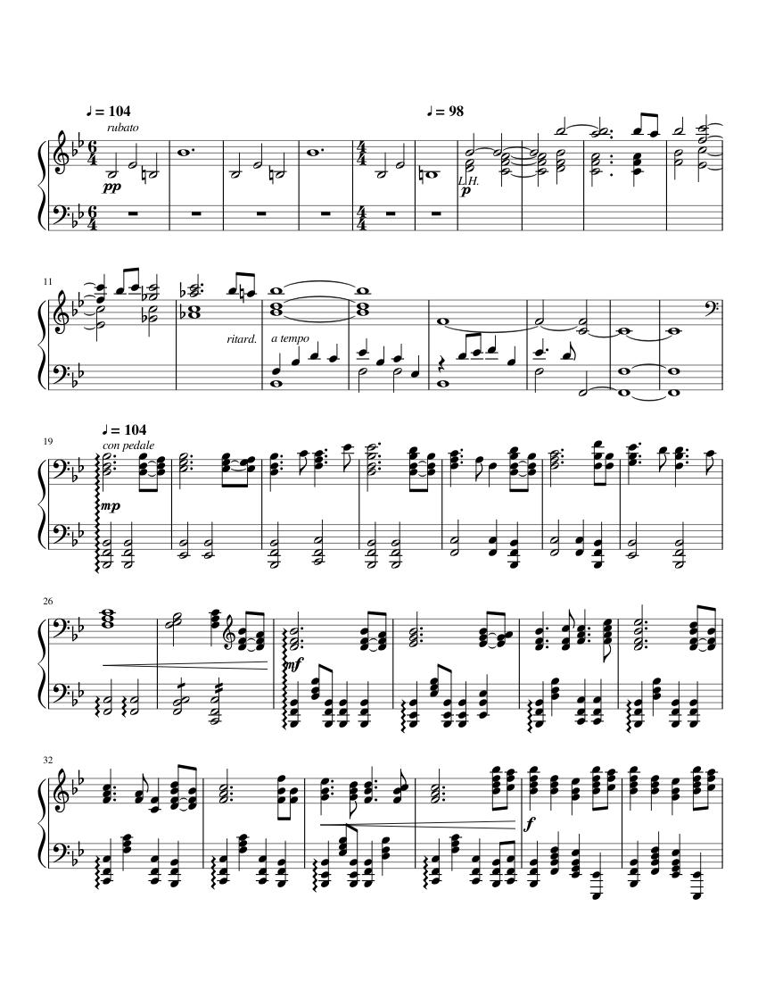 Jurassic park theme sheet music – guitar chords.