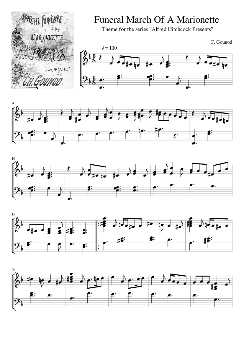 In memoriam president garfield s funeral march sheet music for.