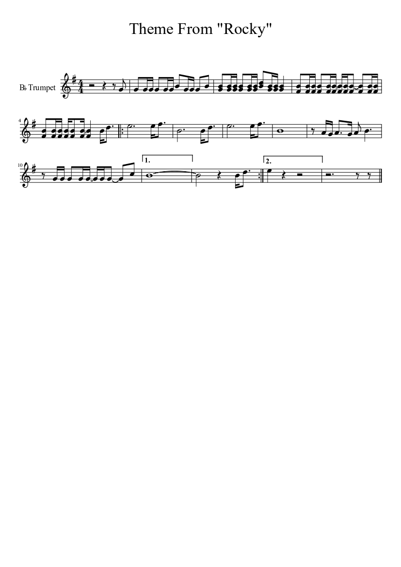 Rocky theme for marching band (revised again) sheet music for.