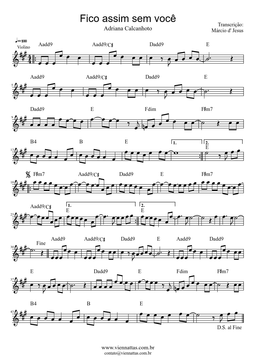 Fico assim sem voce sheet music download free in pdf or midi.