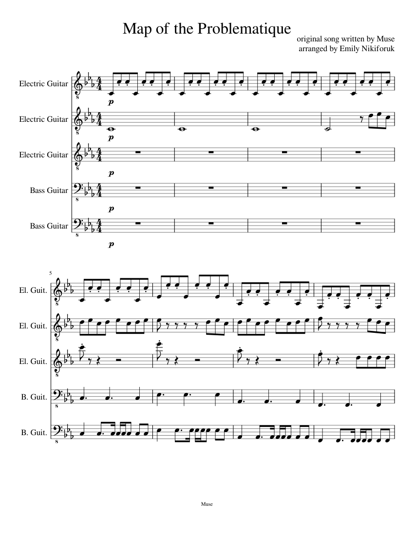 Muse map of the problematique (piano tutorial) youtube.