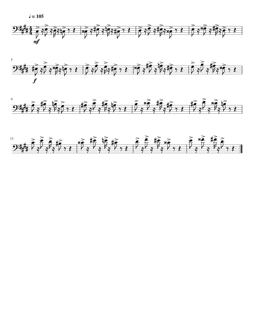 The Nutshack Theme But Everytime It Says The Words It S The Nutshack It Gets A Half Step Higher Cello Solo Sheet Music For Cello Solo Musescore Com