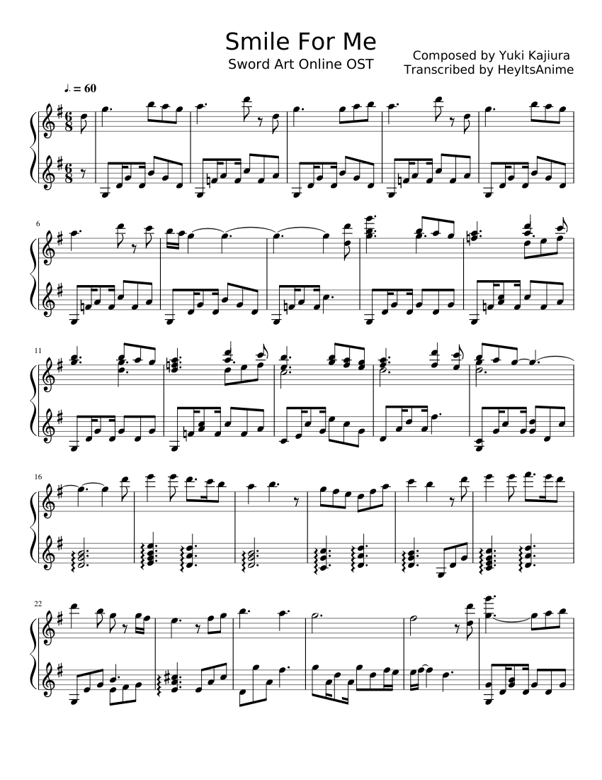 smile for me sheet music for piano download free in pdf or midi