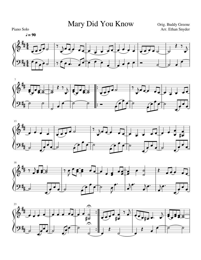 94 FREE SHEET MUSIC FREE MARY DID YOU KNOW PRINTABLE HD PDF DOWNLOAD ZIP DOCX - * SheetMusicFree