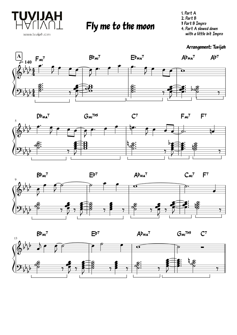fly me to the moon piano sheet music pdf free
