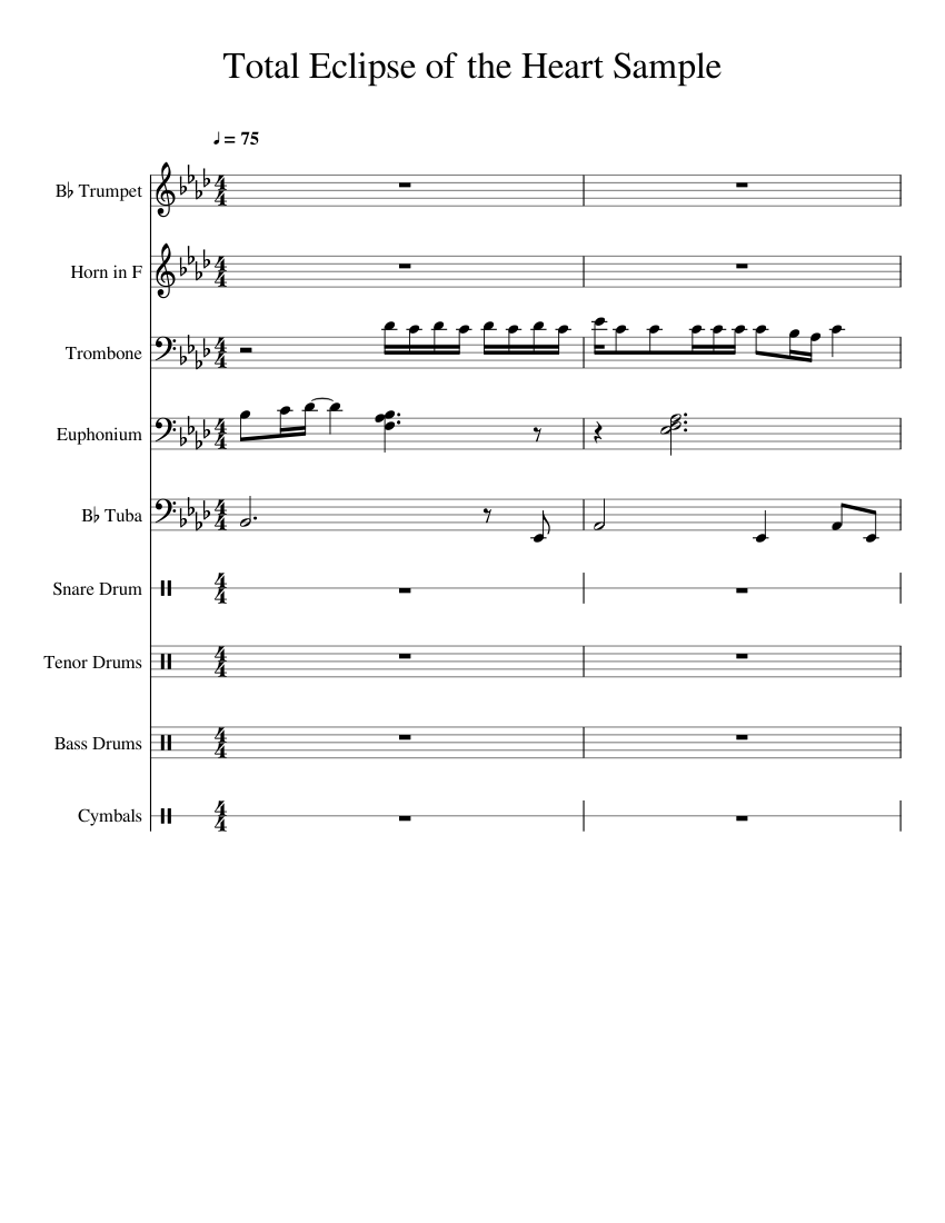 total eclipse of the heart partitura piano pdf