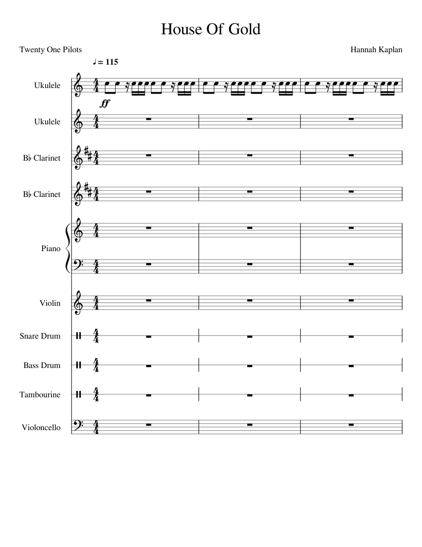 House Of Gold- Twenty One Pilots- Best Version sheet music