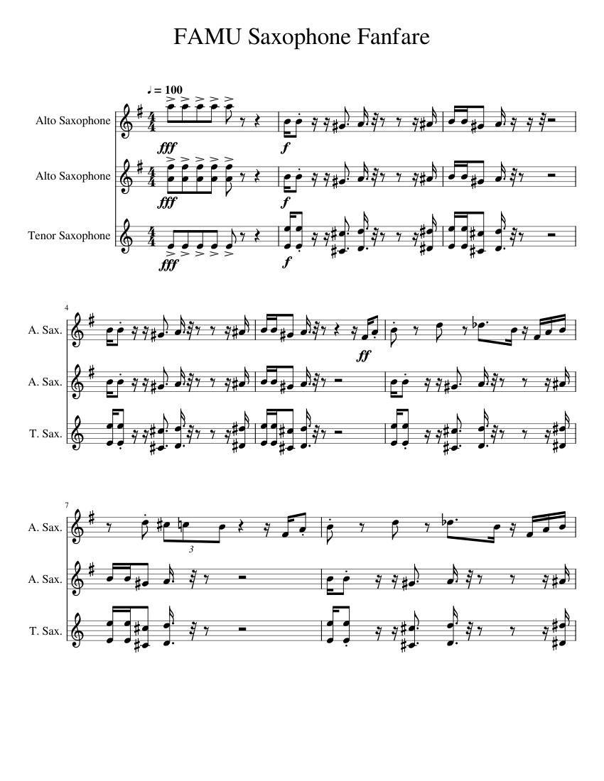Christmas Fanfare Sheet music for Saxophone (Alto