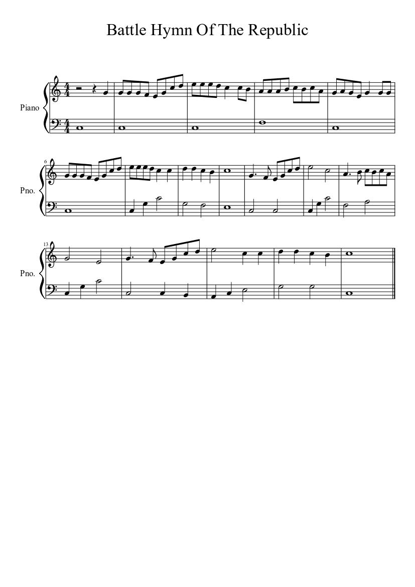 Battle Hymn Of The Republic Ttbb Pdf