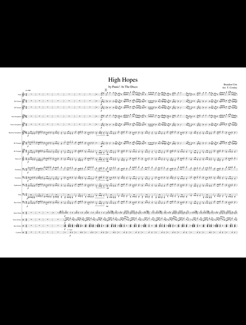 High Hopes by Panic! at The Disco - Marching Band sheet