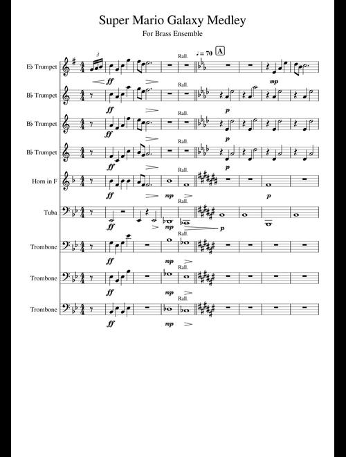 Super Mario Galaxy Medley (WIP) sheet music for Trumpet
