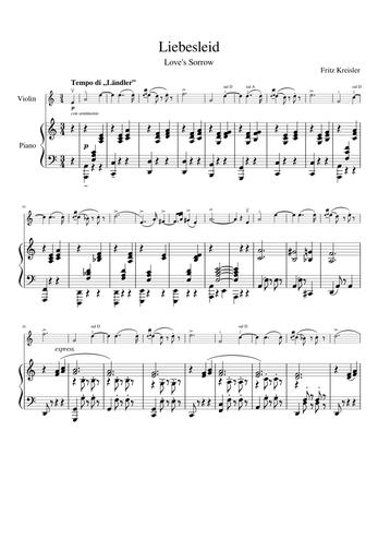 Fritz Kreisler Sheet Music Free Download In Pdf Or Midi On Musescore Com