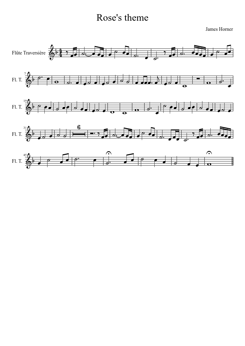 image about Printable Flute Sheet Music known as TITANIC for Flute sheet audio obtain cost-free inside PDF or MIDI