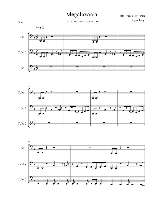 Sheet Music For Tuba Musescore Com