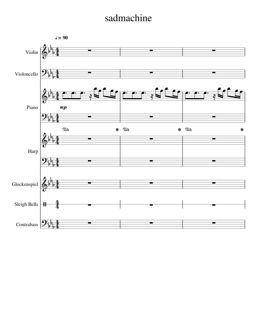{UPDATED} Sad Machine {Easy Piano+Duet} sheet music for