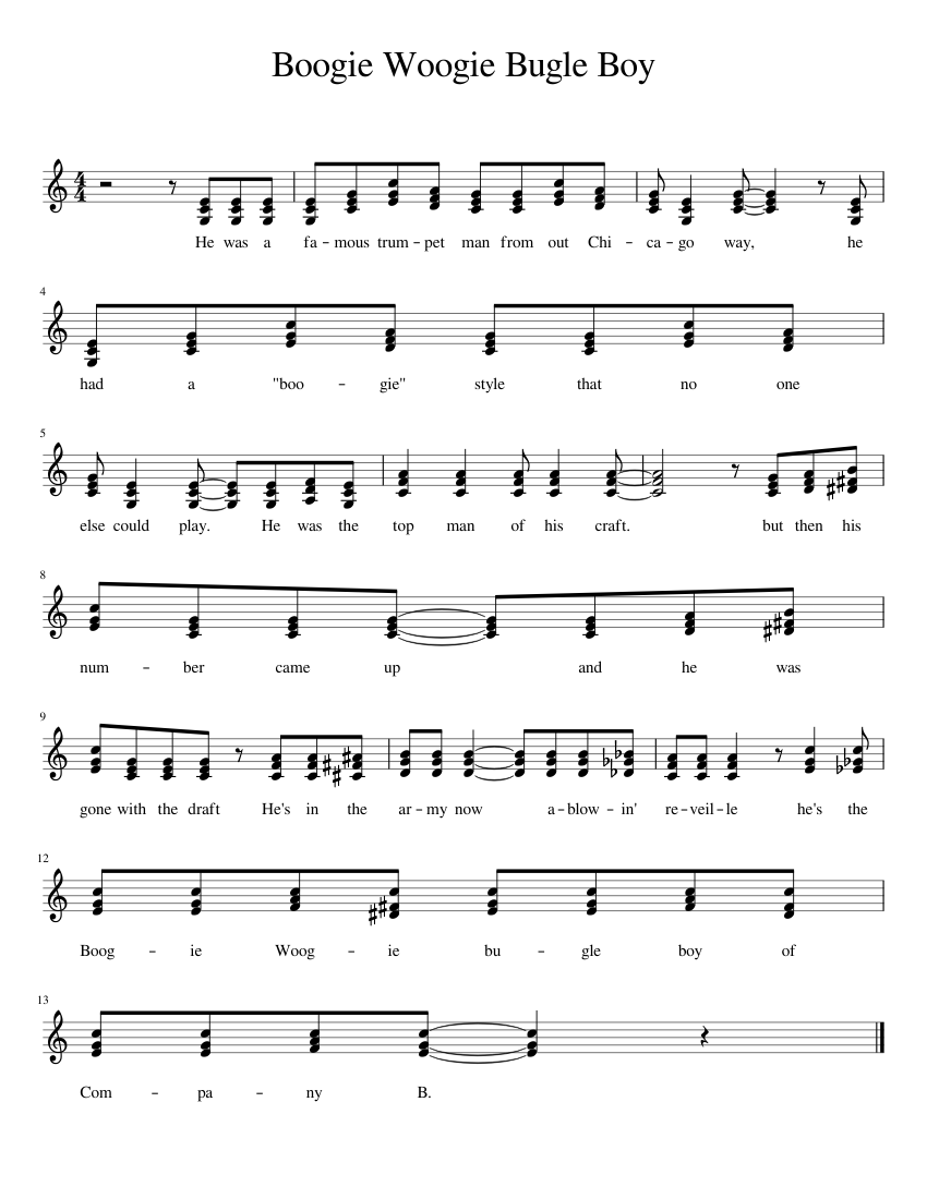 boogie woogie piano sheet music free download
