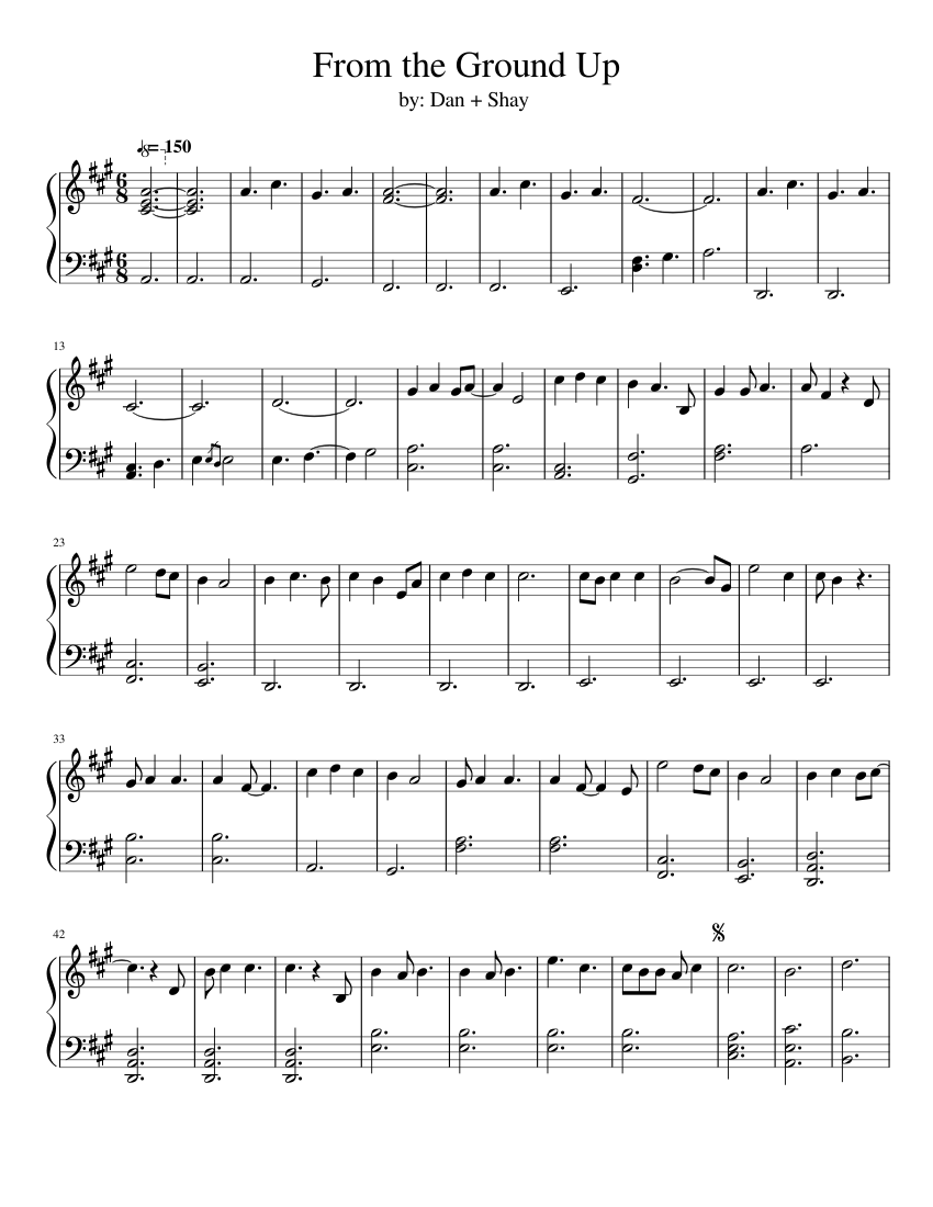 From The Ground Up from the ground up sheet music for piano | download free in