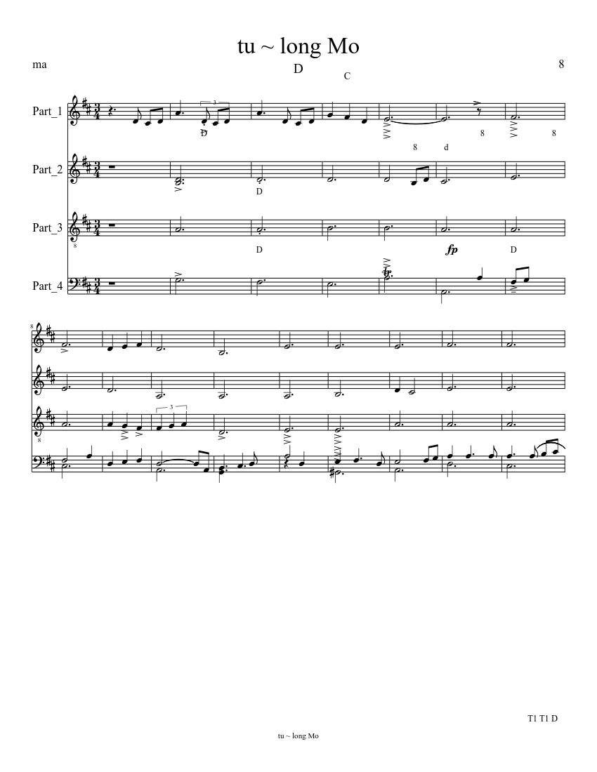 awit ng paghahangad sheet music