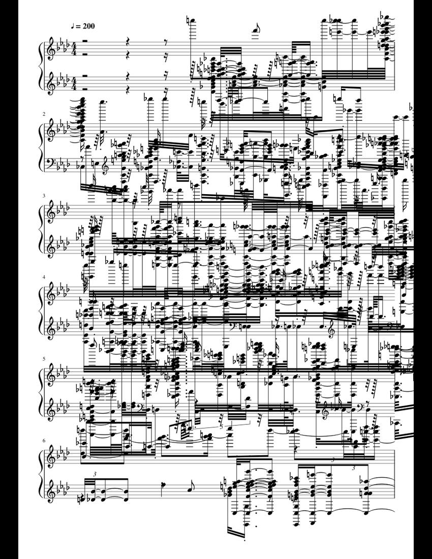 Spider Dance .midi File Monstrositys sheet music for Piano