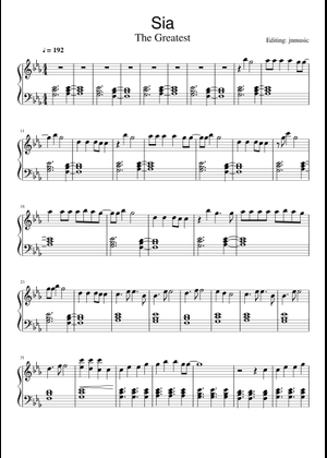 Sia sheet music free download in PDF or MIDI on MuseScore com