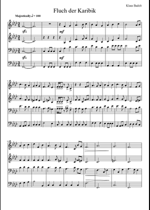 He's a Pirate Accordeon sheet music for Accordion download