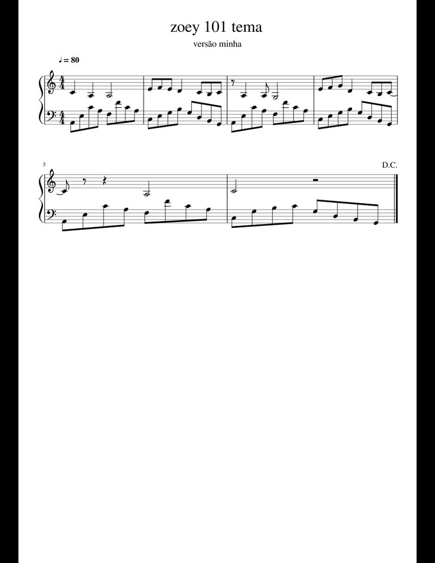 Zoey 101 Theme Piano Tutorial