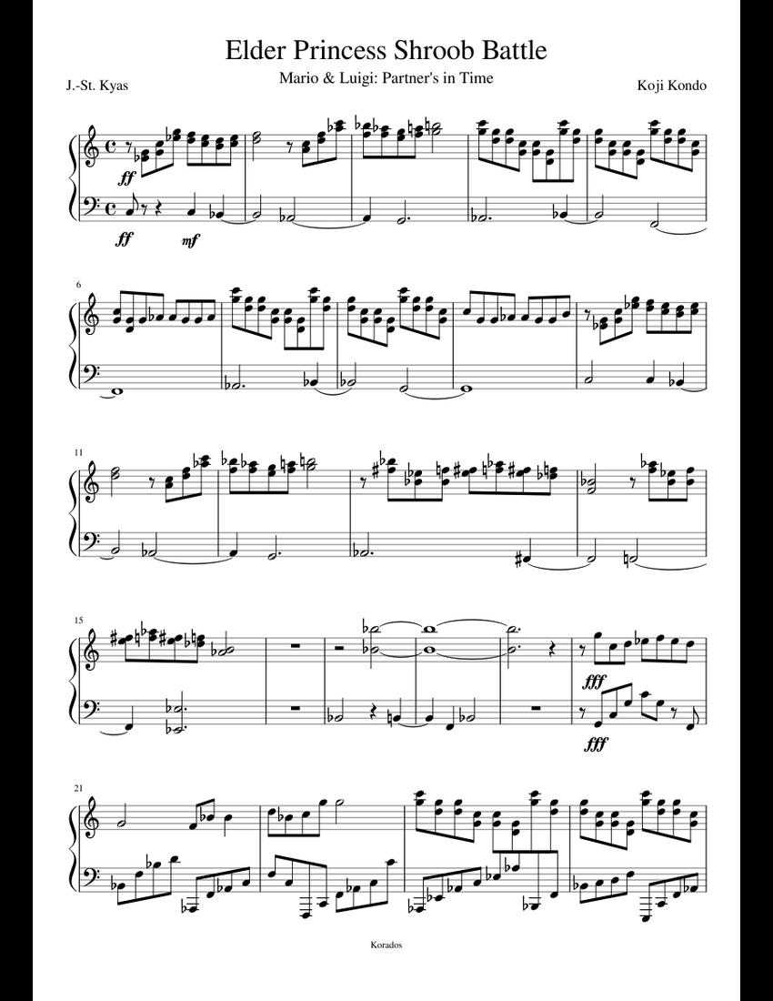Elder Princess Shroob Batle Theme Piano Tutorial