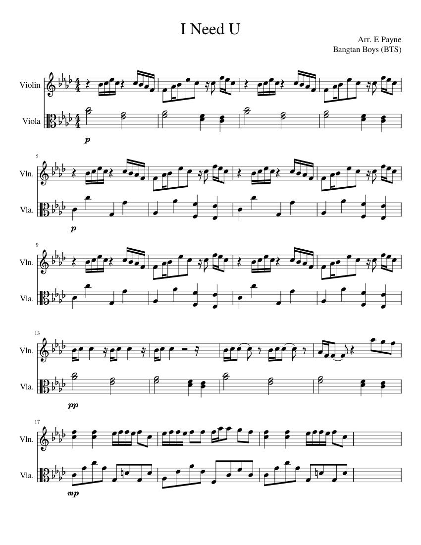 violin sheet bts viola printable notes flute sheets musescore score scores pdf lord
