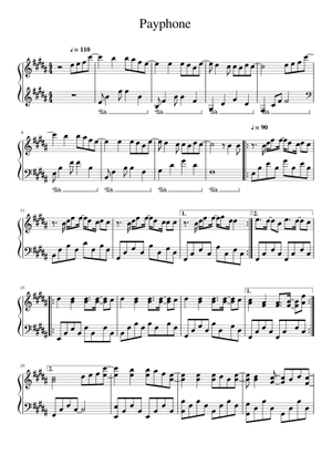 Maroon 5 Sheet Music Free Download In Pdf Or Midi On Musescore Com