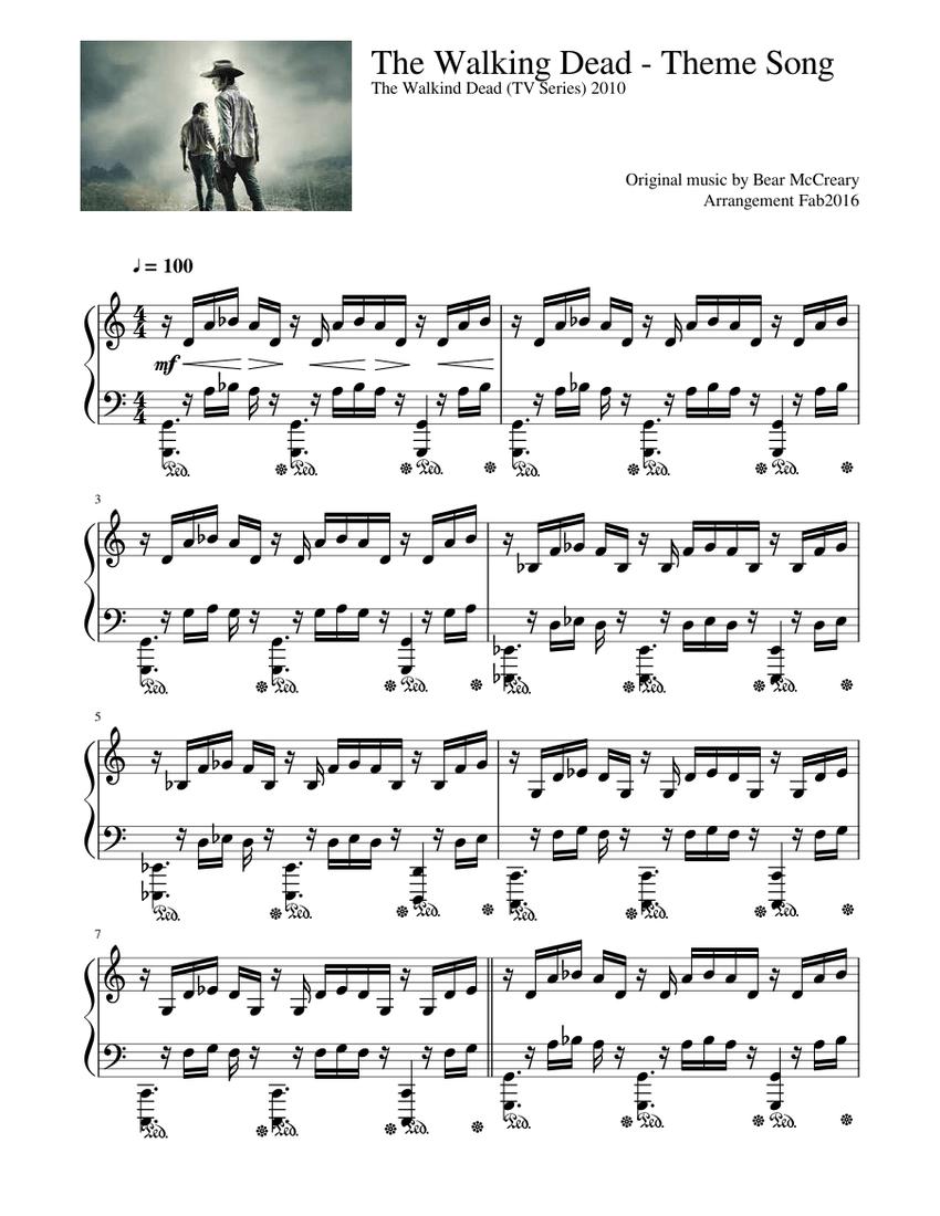 the walking dead piano sheet music free