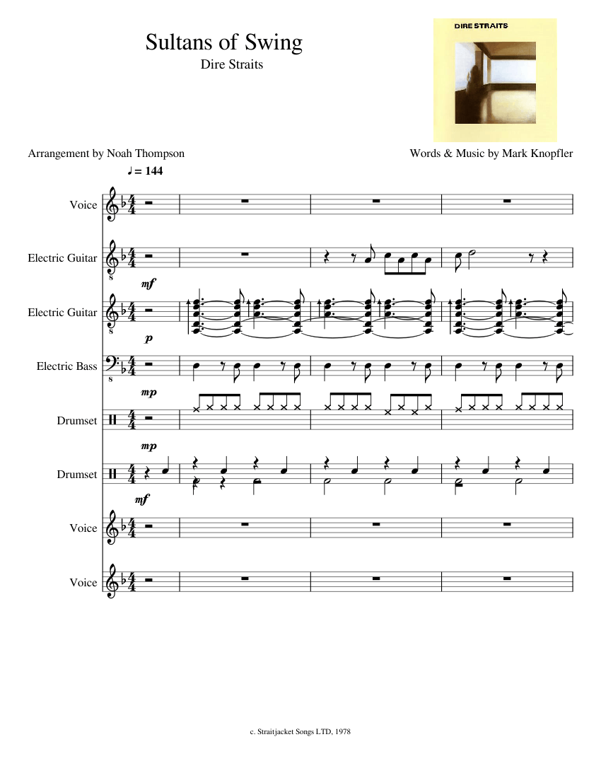 Sultans of Swing - Dire Straits (1978) sheet music