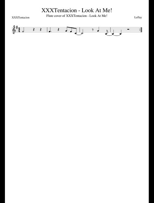 XXXTentacion - Look At Me! Flute sheet music for Flute
