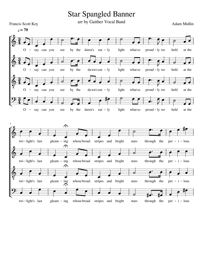 star spangled banner sheet music for voice download free in pdf or midi. Black Bedroom Furniture Sets. Home Design Ideas