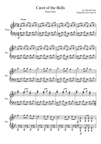 David Foster Sheet Music Free Download In Pdf Or Midi On Musescore Com