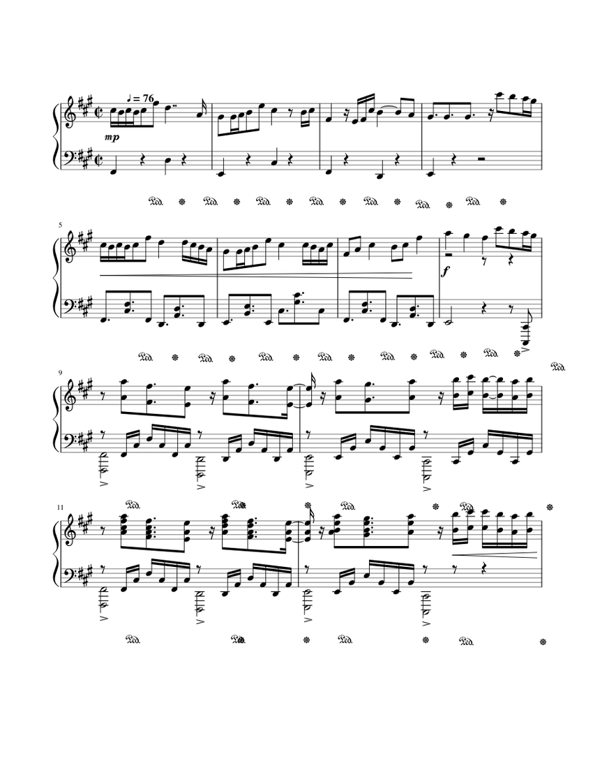 Alan Walker - Lily sheet music for Piano download free in