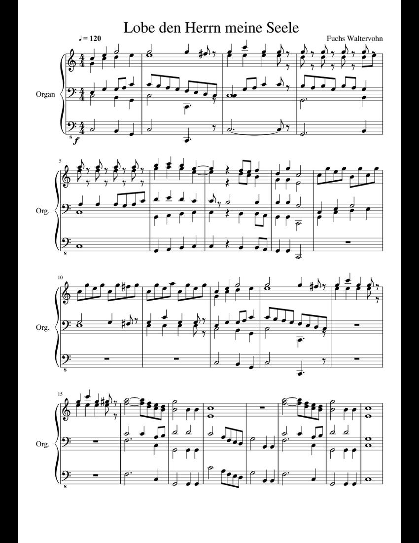Lobe den Herrn meine Seele sheet music for Organ download