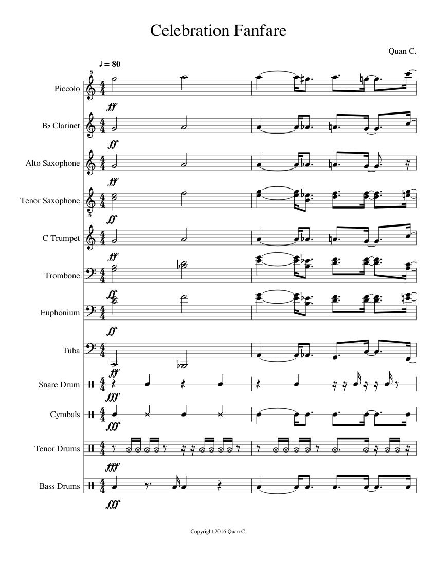 Rondeau Bridal Fanfare Violin Flute Alto Saxophone And