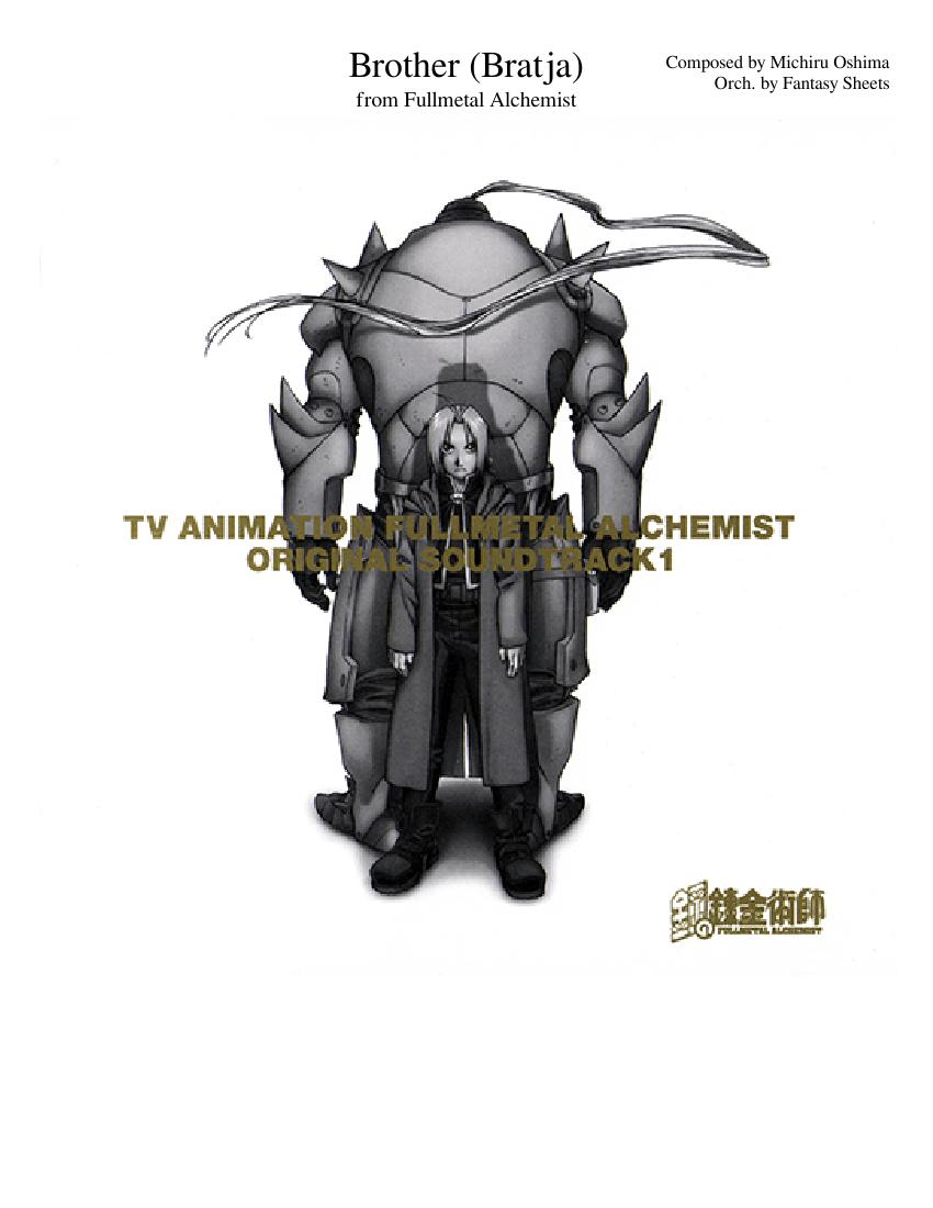 Fullmetal Alchemist - Brothers (Bratja) Sheet music for ...
