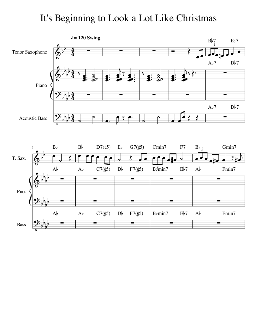 It\'s Beginning to Look a Lot Like Christmas sheet music for Piano ...