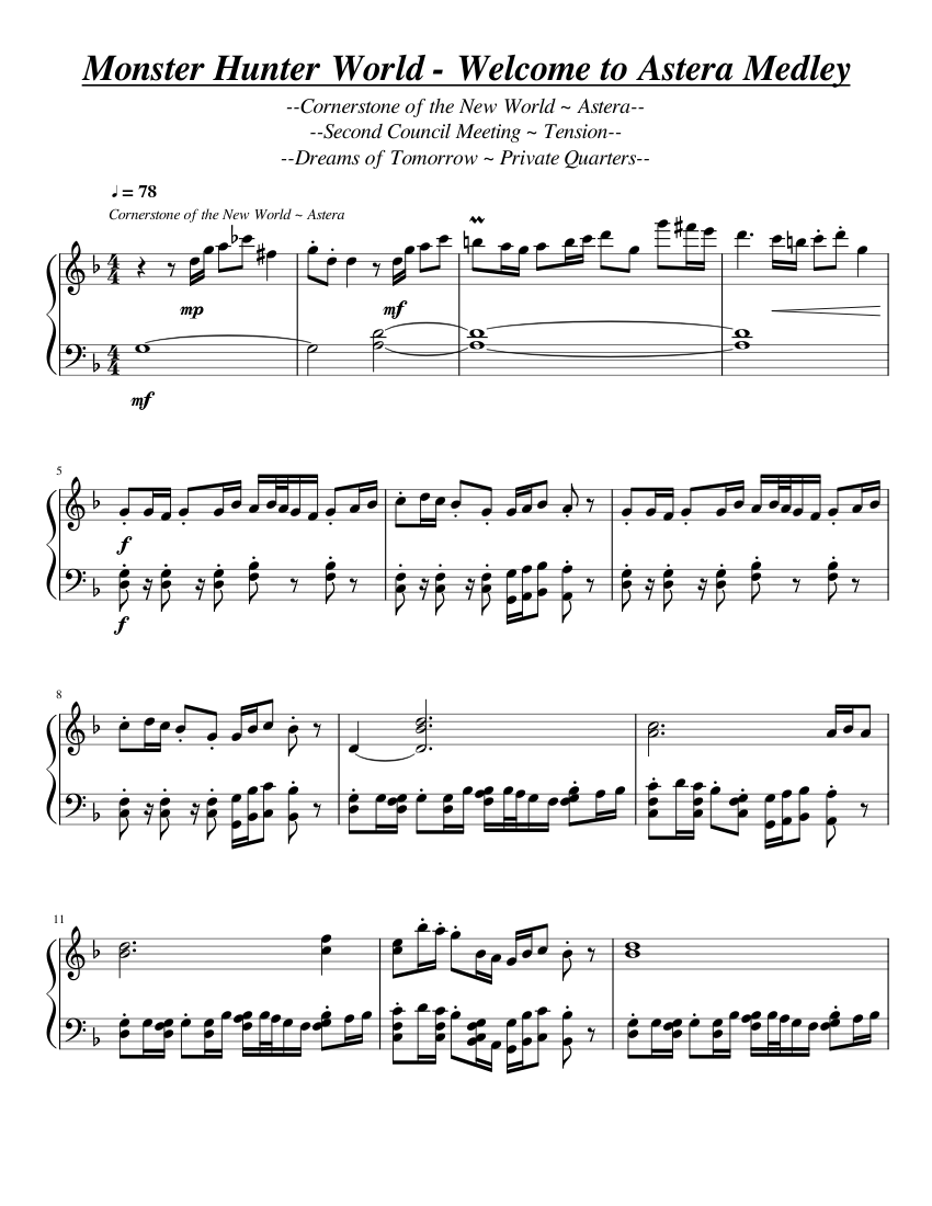 """Monster Hunter World Medley - """"Welcome to Astera"""" - WIP ..."""