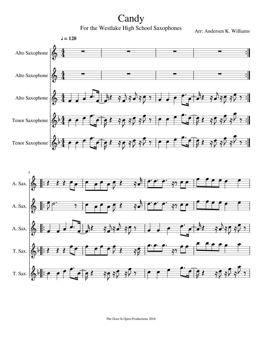 Fox Boogie Sax Quartet Sheet music for Alto Saxophone