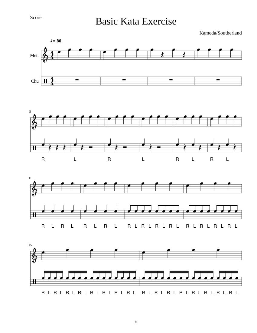 Basic Kata Exercise Sheet music for Soprano Solo   Musescore.com