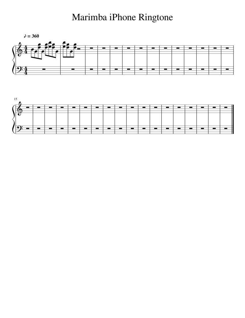 ringtone marimba