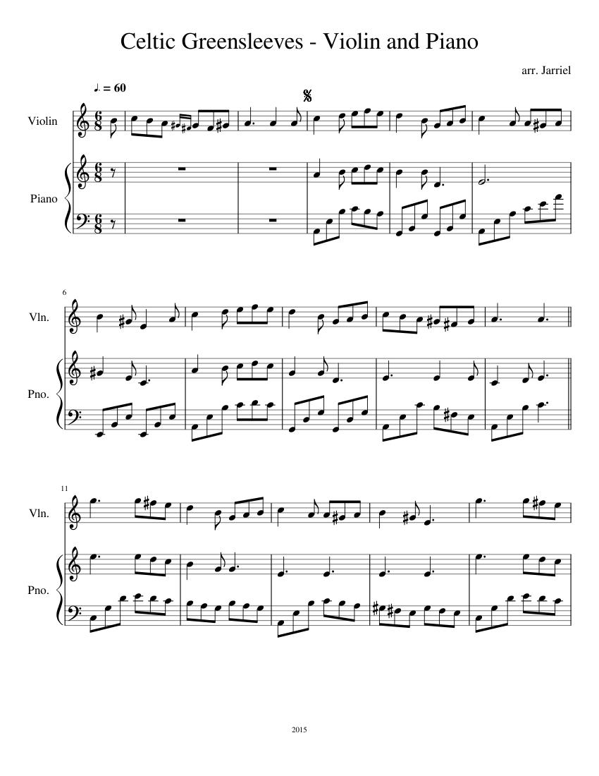 Greensleeves - Score